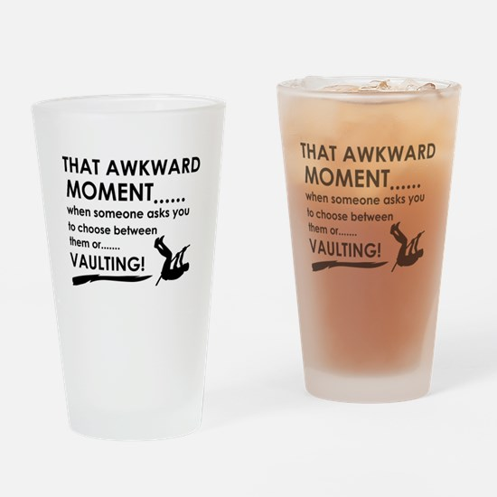Awkward moment vaulting designs Drinking Glass