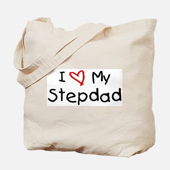 I Love My Stepdad Tote Bag