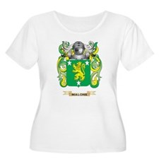 Malone Coat of Arms - Family Crest Plus Size T-Shi