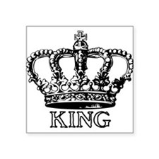 King Crown Rectangle Sticker