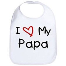 I Love My Papa Bib