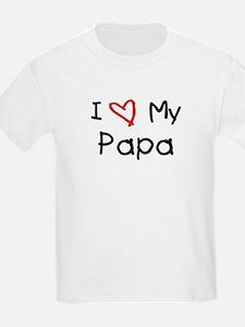 I Love My Papa Kids T-Shirt