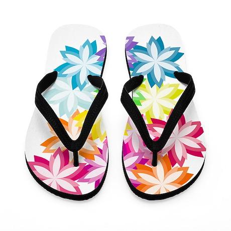 2013_08_27 - Rainbow Flowers Flip Flops
