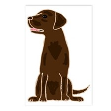Chocolate Labrador Retrie Postcards (Package of 8)