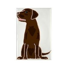 Chocolate Labrador Retriever Rectangle Magnet