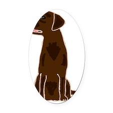 Chocolate Labrador Retriever Oval Car Magnet