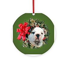 Bull Dog Keepsake/Ornament (Round)