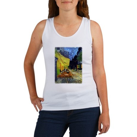 Cafe Terrace at Night r3 Tank Top