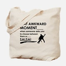 Awkward moment salsa designs Tote Bag