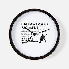 Awkward moment salsa designs Wall Clock
