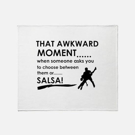 Awkward moment salsa designs Throw Blanket