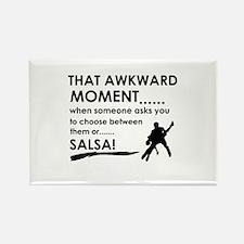 Awkward moment salsa designs Rectangle Magnet