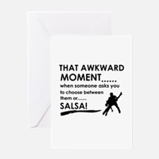 Awkward moment salsa designs Greeting Card