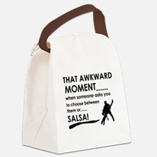 Awkward moment salsa designs Canvas Lunch Bag