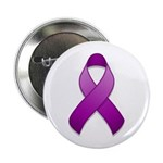 "Purple Awareness Ribbon 2.25"" Button (100 pack)"