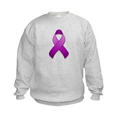 Purple Awareness Ribbon Sweatshirt