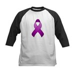 Purple Awareness Ribbon Kids Baseball Jersey