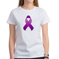 Purple Awareness Ribbon Women's T-Shirt
