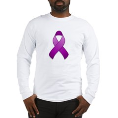 Purple Awareness Ribbon Long Sleeve T-Shirt