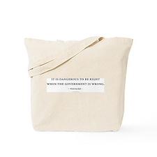 Voltaire Quote Tote Bag