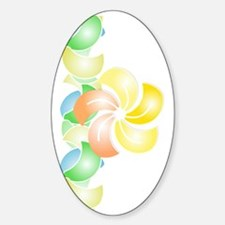 2013_08_28 - Orange Flower vertical Sticker (Oval)