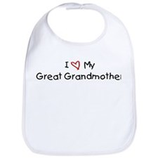 I Love My Great Grandmother Bib