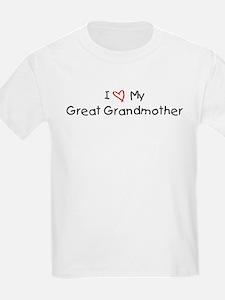 I Love My Great Grandmother Kids T-Shirt