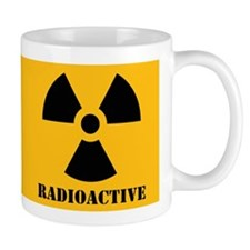 Radioactive Yellow Background Mug
