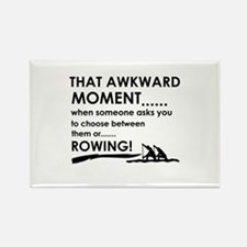 Awkward moment rowing designs Rectangle Magnet