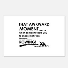Awkward moment rowing designs Postcards (Package o