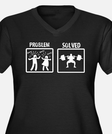 Problem Solved Weight Lifting Plus Size T-Shirt