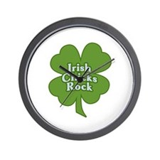 Irish Chicks Rock Wall Clock
