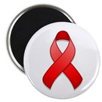 "Red Awareness Ribbon 2.25"" Magnet (100 pack)"