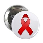 "Red Awareness Ribbon 2.25"" Button (10 pack)"