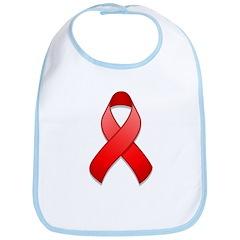 Red Awareness Ribbon Bib
