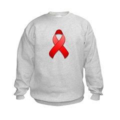 Red Awareness Ribbon Sweatshirt