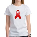 Red Awareness Ribbon Women's T-Shirt