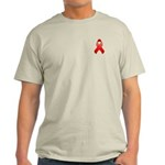 Red Awareness Ribbon Light T-Shirt