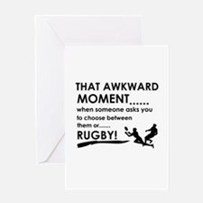 Awkward moment rugby designs Greeting Card