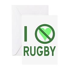 I Hate Rugby Greeting Card