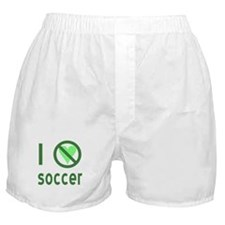 I Hate Soccer Boxer Shorts