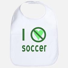 I Hate Soccer Bib