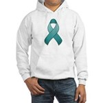 Teal Awareness Ribbon Hooded Sweatshirt