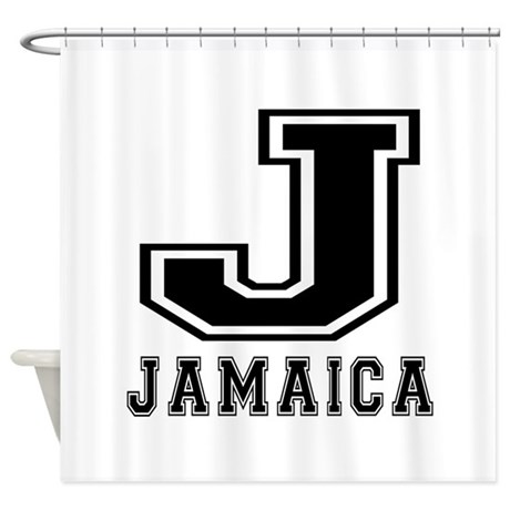Jamaica designs shower curtain by patriotictees1 for Jamaican bathroom designs