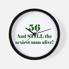 56 Still Sexiest 1C Green Wall Clock