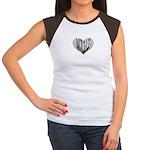 Double Bass Heart Women's Cap Sleeve T-Shirt