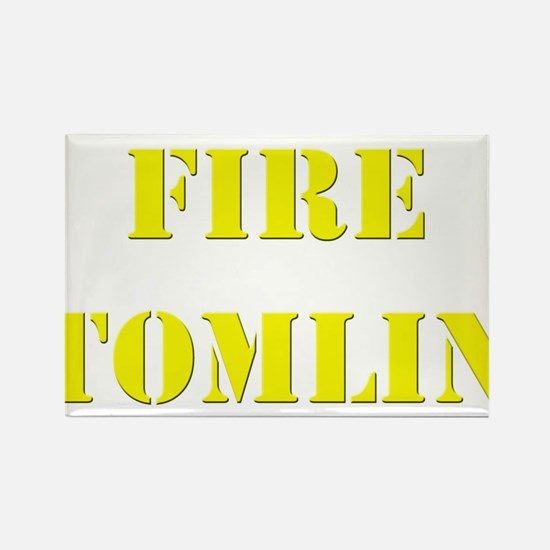 Fire Tomlin Outline Rectangle Magnet