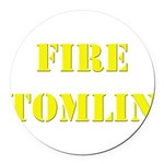 Fire Tomlin Outline Round Car Magnet