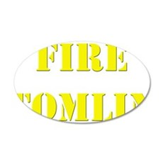 Fire Tomlin Outline Wall Decal