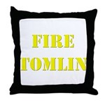 Fire Tomlin Outline Throw Pillow